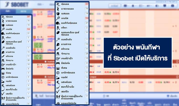 บริการพนันกีฬาออนไลน์ในเว็บ SBOBET